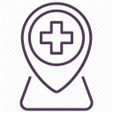 recovery, medicine, treatment, care, hospital DarkSlateGray icon