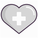 recovery, treatment, care, medicine, hospital LightGray icon