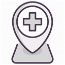 hospital, medicine, care, recovery, treatment DarkSlateGray icon