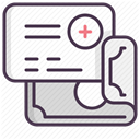 medicine, care, treatment, recovery, hospital DarkSlateGray icon