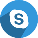 network, Social, media, Skype DodgerBlue icon