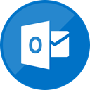 mail, outlook, website, Email DarkCyan icon