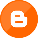 blogger, social media, blog OrangeRed icon