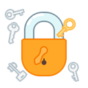protect, Key, privacy, secure, safety, Lock Black icon