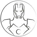 Emotion, ironman, Avatar, stark, marvel hero Black icon