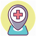 hospital, medicine, treatment, recovery, care Khaki icon