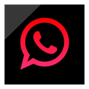 Logo, media, Social, Whatsapp Black icon