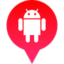 Android, media, Logo, Social Crimson icon