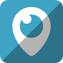 social network, Eye, Periscope, Tv, Logo, video, watch SteelBlue icon
