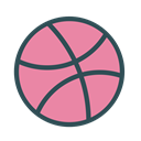 Basketball, Game, dribbble, Brand, sport PaleVioletRed icon