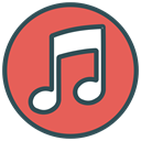 Circle, Brand, shape, music, Note IndianRed icon