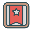 banner, star, Brand, square DarkSlateGray icon