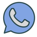 shape, phone, Brand, Whatsapp, Circle CornflowerBlue icon