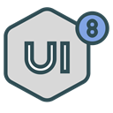 Design, network, Brand, ui8 Gainsboro icon