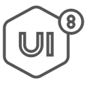 ui8, Design, network, Brand Black icon