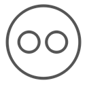 robot, Avatar, flickr, Brand, shape, Circle Black icon