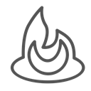 figure, Brand, shape, fire Black icon