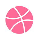 dribbble, Basketball, Game, sport, Brand HotPink icon