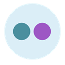 shape, Brand, robot, Circle, Avatar, flickr Lavender icon