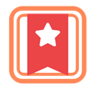 Brand, banner, star, square Tomato icon