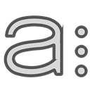 A, single, Circles, Letter, Brand Black icon
