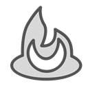 shape, fire, figure, Brand Black icon