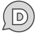 Letter, Brand, single, d, Chat, Circle Gainsboro icon