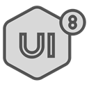 network, Brand, ui8, Design Gainsboro icon