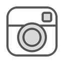 Social, media, Instagram, Camera, photo Black icon