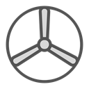 Disk, shape, fan, Brand Black icon