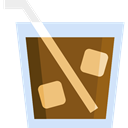 soda, food, glass, travel, beverage, straw, drinks Icon