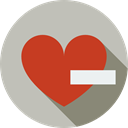 remove, symbol, Like, erase, quit, signs, Heart, delete, network, interface Silver icon