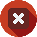 cross, cancel, unchecked, multiply, signs, mathematics, maths Firebrick icon