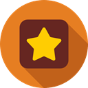 Favorite, Favourite, interface, rate, signs, star, shapes Chocolate icon