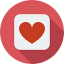 Like, loving, Peace, signs, Heart, interface, lover, shapes IndianRed icon