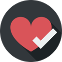 Heart, signs, shapes, loving, Like, interface, lover, Peace DarkSlateGray icon