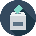 Elections, Election Icons, envelope, Election, votes, Box, signs, Enveloped, voting, vote DarkSlateGray icon