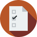paper, interface, list, vote, Election, Election Icons, Lists, Chcklist, pencil, signs, voting Sienna icon