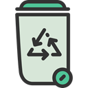 recycle bin, Can, Trash, Bin, Garbage, Ecology And Environment, Tools And Utensils Gainsboro icon