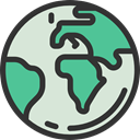 Ecology And Environment, Geography, Planet Earth, worldwide, global, Maps And Flags, earth Gainsboro icon