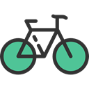 sport, Bike, vehicle, transport, Bicycle, cycling, sports, exercise Black icon