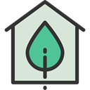 real estate, buildings, Ecology And Environment, Eco House, Construction, Home, Ecological Gainsboro icon