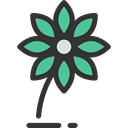 Flower, petals, blossom, nature, Ecology And Environment, daisy, Botanical Black icon
