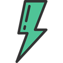 electrical, Flash, thunder, technology, electricity, Bolt, Ecology And Environment, weather, interface, lightning Black icon