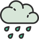 Storm, rainy, Rain, sky, Ecology And Environment, weather, meteorology Gainsboro icon