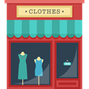 Shop, Clothes, Shopping Store, buildings, commerce DarkSlateGray icon