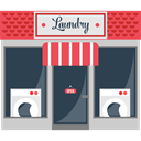 Clean, wash, Machines, Clothes, buildings, cleaning, Laundry, Building DarkSlateGray icon