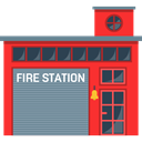 buildings, firefighters, truck, Firemen, Emergencies, Building, Fire Station LightSlateGray icon