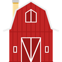 Farm, Barn, buildings, gardening, real estate Firebrick icon