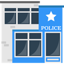 Police Station, Prison, buildings, jail, police DarkSlateGray icon
